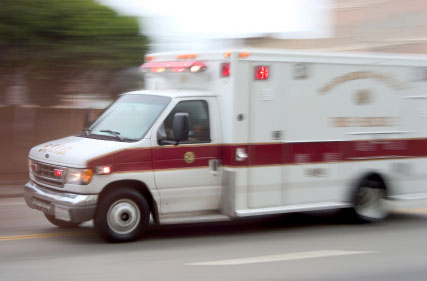 photo of ambulance in motion